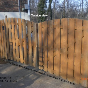 Existing-Royal-Arch-Wood-Gates-Mounted-On-New-Steel-Frames-And-Posts-Edgewood-Kentucky